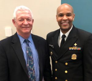 Ken Lalime and Surgeon General Jerome Adams, MD